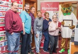 Rehoboth Signarama wins Kody O'Bears Community Award