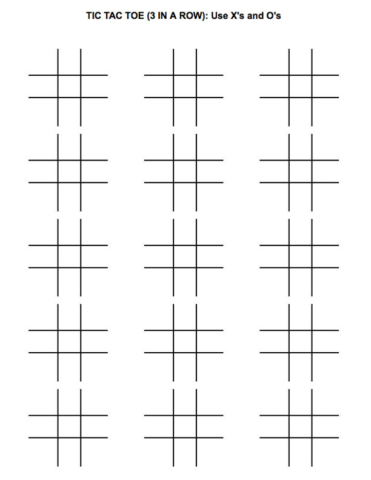 Tic Tac Toe Game for Children