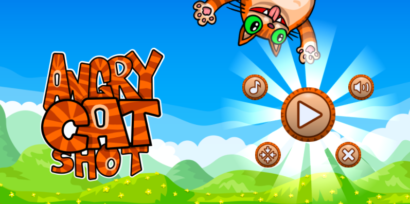 Play Angry Cat Shot by SafeKidGames.com